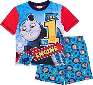 Thomas The Tank Engine Boys Pyjamas, Short Summer Pjs, Official Merchandise