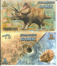 JURASSIC BANK 1 DIN 2015 LOTE DE 5 BILLETES