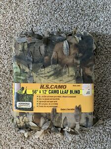 """Hunters Specialties Camo Leaf Blind Material 56"""" x 12' New"""