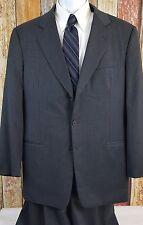 Giorgio Armani Men's Wool Blend Black Striped 2 Piece Suit 44 Regular 36x31