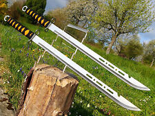 2 Stück Wunderschöne leichte Zweihand Machete 70cm Machette Riesen Bowie M001 OT
