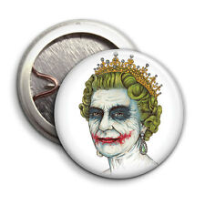 Punk Queen Joker  - Button Badge - 25mm 1 inch - Anarchy God save the Queen