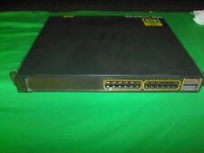 Cisco Catalyst WS-C3750E-24PD-S 24-Port Gigabit PoE Switch C3K-PWR-750WAC PSU