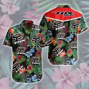 Fox Racing Floral Short Sleeve Hawaiian Shirt All Size