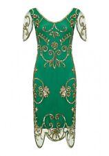 Gatsbylady Rosemary Emerald Green  Flapper Dress  SIZE:UK 24, EU 52,US 20