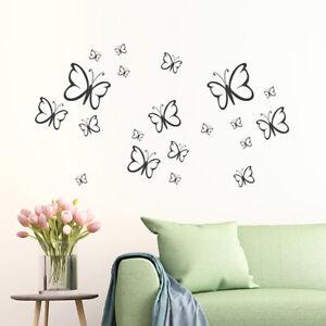 Wandtattoo 20 Schmetterlinge-Set, Wandsticker, Wnadaufkleber, Wanddekoration