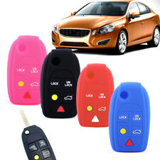 5 Button Key Cover Fit for Volvo S60 S80 V70 XC70 Silicone Remote Shell Case Fob