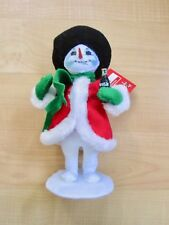 New NWT Annalee Coca Cola Coke Christmas snowman figurine standing statue