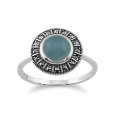Aquamarine Not Enhanced Sterling Silver Fine Jewellery