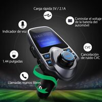Transmisor FM bluetooth Coche Manos Libres Cargador USB  Radio MP3 VicTsing
