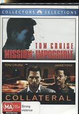 MISSION IMPOSSIBLE & COLLATERAL - TOM CRUISE DOUBLE FEATURE - 2 DVD's - NEW -