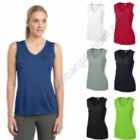 Ladies Sleeveless Workout Top Golf Shirt Dri Fit Moisture Wicking Travel Womens