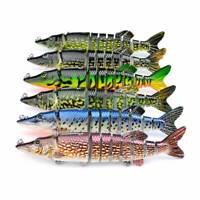 New Pike Muskie Fishing Bait Lure Swimbait Life-like Baby Multi-jointed Tackle