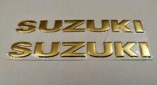 SUZUKI 3D GOLD BADGE LOGO STICKERS GRAPHICS DECALS SUPERBIKE GSXR GSR BANDIT SV