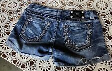 FRAY JEWEL BUCKLE MISS ME SHORT 30 W16/L3.5/R8 VERY NICE LN WOMEN'S CUTE 💓💓💓