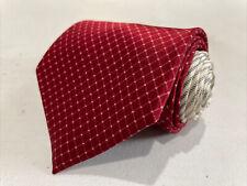 Tommy Hilfiger Men's Red Plaid Silk Neck Tie $98