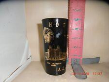 HOT SPRINGS , ARKANSAS SOUVENIR TUMBLER - FEDERAL GLASS F IN SHIELD ON BOTTOM