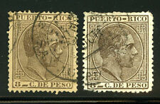 Puerto Rico Porto Rico 66a Used King Alfonso 8c Cliche in Plate of 3c Var 6K3 10
