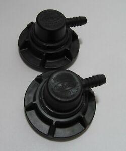 2-PIECES NEW SCHOLLE 1910L BLACK BIB CONNECTORS FOR NITRON/ NITRON2/ BUNN/ PCSS