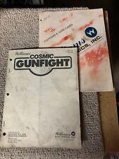 Original Cosmic Gunfight Williams pinball Arcade game Manual