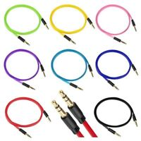 Genuine  3.5mm Jack To Jack Aux Cable Audio Lead For IPhone,IPad, Mp4, 3