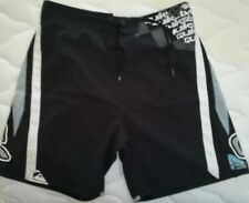 QUIKSILVER Board Shorts Swim Trunks in Black and Gray XL