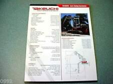 Takeuchi TB180FR Zero Swing Excavator Brochure