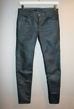 Portmans Brand Black Dark Grey Coated Skinny Leg Jeans Size 11 LIKE NEW #AN02