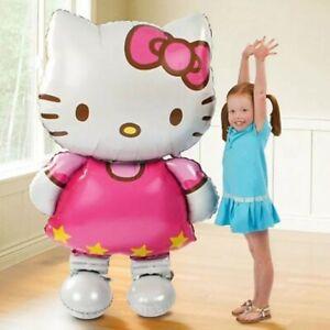 1Pcs Hello Kitty Balloon Birthday Party Decoration Inflatable Pump Air Balloon