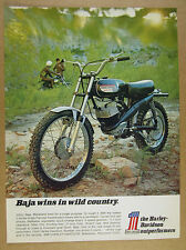 1970 Harley-Davidson BAJA 100cc Motorcycle dirt bike photo vintage print Ad