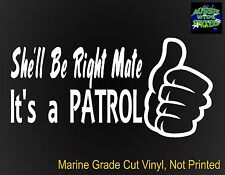 PATROL Ute 4x4 series accessories Funny Nissan Stickers RIGHT 200mm