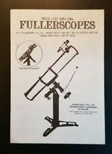 Fullerscopes - Illustrated Astronomical Telescope Catalogue April / 1984