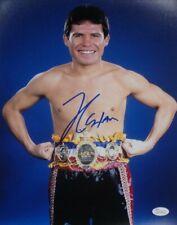 Julio Cesar Chavez Sr Signed Autographed 16x20 Photo Standing with Belt Ring JSA
