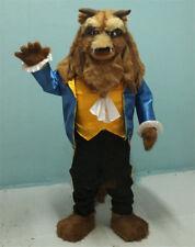 The Beast & Beauty Costume Xmas Beast Mascot Cartoon Suit Fancy Dress Adult Size