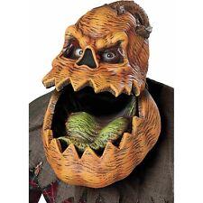 Adult Psycho Lantern Ani-Motion Pumpkin Mask Orange, One Size