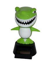 1 x Solar Figur Wackelfigur Solarfigur Hai Fisch Shark Haie Grün Auto Deko Neu