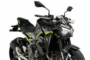 Puig Downforce Naked Spoilers For Kawasaki Z900 2020-21 Black 20284N