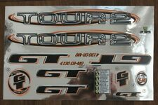 Reproduction 1999 GT Tour 2 BMX Decal Set - Chrome Backing
