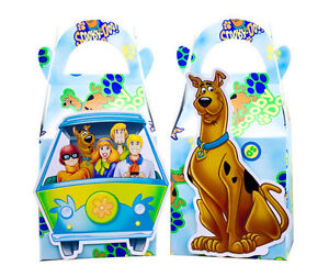 SCOOBY DOO PARTY FAVOUR BOXES KIDS BIRTHDAY LOLLY LOOT BAGS SUPPLIES DECORATIONS