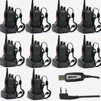 10×Baofeng BF-888S +1×Cable USB UHF 400-470Mhz EMISORA Walkie Talkie Radio 5km
