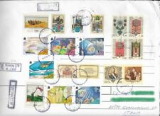 Russia stamps on registered mail 1998 /francobolli di russi su raccomandata -b01