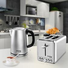 MIC Edelstahl Wasserkocher 1,7 L 3000 W & Toaster 2 Scheiben Frühstücks Set