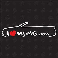 Amo mio BMW E46 Cabrio Messa punto Adesivo, 3 serie,.Anno 99-07,Auto Ventilatore