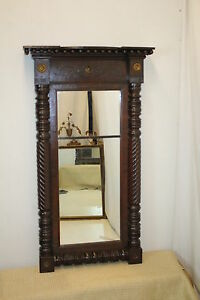 American Federal Hand Carved Mirror with Spectacular Design, circa 19th