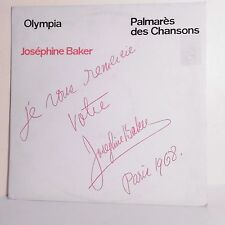 "33T Joséphine BAKER Disque LP 12"" PALMARES CHANSONS - OLYMPIA - COLUMBIA 240684"