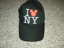 Disney Mickey Mouse I heart NY adjustable hat cap love silhouette