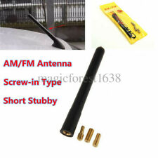 "3.7"" Universal Fit Short Stubby Car Antenna AM/FM Radio Aerial Mast Screw Type"