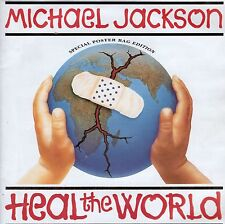 7inch MICHAEL JACKSON heal the world SPECIAL POSTER BAG EDITION ex+ 1991