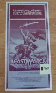 THE BEASTMASTER ORIGINAL 1982 CINEMA DAYBILL MOVIE POSTER Marc Singer Rip Torn