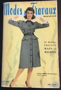 Magazine Modes & Travaux Mars 1960 complet